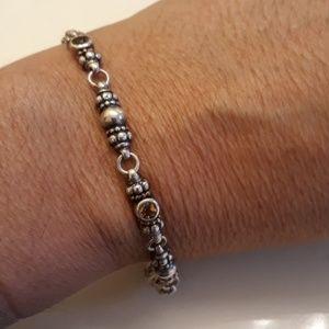 Lagos Sterling Citrine Caviar Bracelet